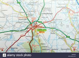 Road Map Of Scotland Scotland Road Map Stock Photos U0026 Scotland Road Map Stock Images
