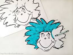 thing 1 thing 2 printable coloring pages thing circle colouring
