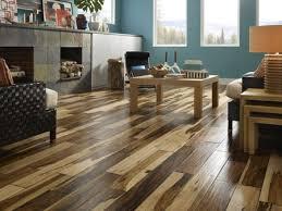 pecan scraped wood floor home