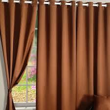 Brown Blackout Curtains Buy Hazel Brown Blackout Curtains Eyelet Curtains Swayam