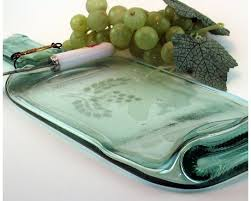 wine bottle plates transforming an bottle into something useful and beautiful