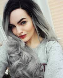 magnifying ombre grey hair colors pretty hairstyles com