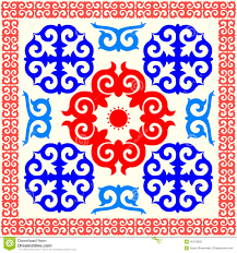 kazakh national ornament stock illustration image 40133655