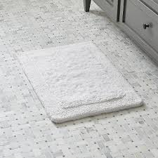 Black And White Bathroom Rugs White Ultra Spa 17 X24 Bath Rug In Bath Rugs Reviews Crate