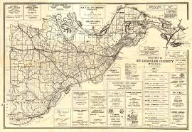 Highway Map St Charles County Highway Map Circa 1940 St Charles City
