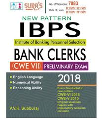 ibps bank clerk cwe vii prelims study books u0026 model solved