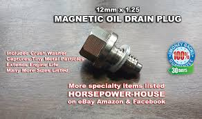 amazon com 12mm 1 25 magnetic oil drain plug bolt with washer m12