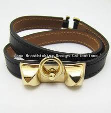 leather bracelet designs images Cheap black leather and gold bracelet find black leather and gold jpg