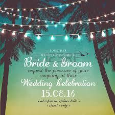 wedding invitation card beautiful lace with decorative lights