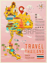 map of thailand attractive thailand travel concept map in flat style royalty free