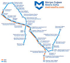 Subway Station Map by Sofia Metro Map