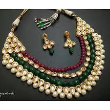 green necklace set images Red green bead bridal necklace set designer jewelleries cm jpg