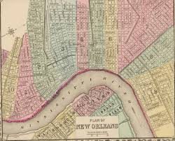 Street Car Map Of New Orleans by Downtown Map Downtown New Orleans Lodging On Canal Street In New