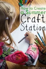 how to set up a temporary summer craft station lauren greutman