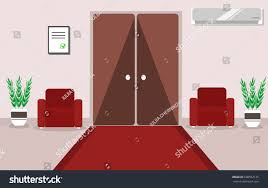 interior office hotel corridor waiting room stock vector 688552135