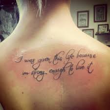 quote tattoos about meaningful quotes for back