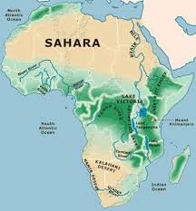 africa map deserts physical map of africa with rivers and mountains and deserts