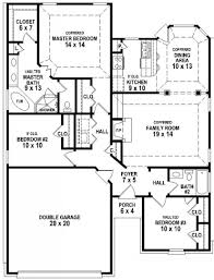 House Plans And Designs For 3 Bedrooms Extraordinary 3 Bedroom 2 Bath Home Plans Photos Ideas House