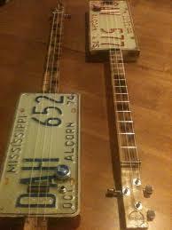 Guitar Home Decor License Plate Resonator Cigar Box Guitar Saner Cigar Box Guitars