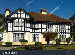 example old english colonial style house stock photo 272932748