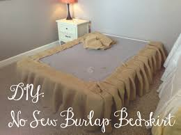 you got personal no sew burlap bedskirt tutorial house to home
