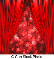 Curtains Show Clip Art Of Pink Curtains Opening For The Theatre Csp8526392