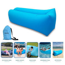 Beach Lounger Inflatable Lounger Couch With Carry Bag Hammock Air Sofa
