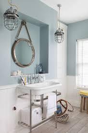 rustic nautical bathroom lighting fixtures over mirror themed