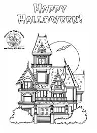printable spooky house printable haunted house coloring pages for kids cool2bkids spooky