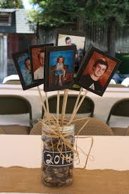 Centerpieces For Family Reunions Table by Memory Table I Also Think It U0027d Be Great As A Graduation Table In