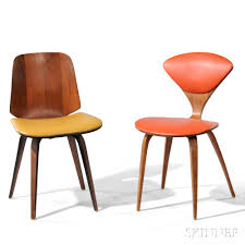 two norman cherner plycraft side chairs sale number 2830b lot