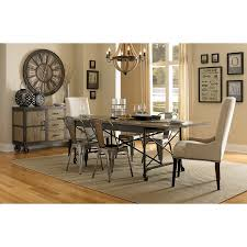 magnussen home walton wood rectangular dining table set with