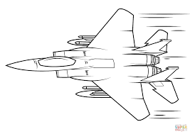 f 15 eagle coloring page free printable coloring pages