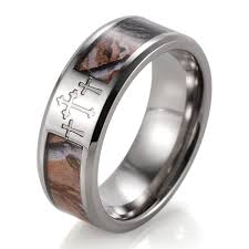 camo mens wedding bands shardon s 8mm titanium 3 crosses tree camo wedding