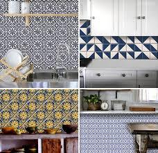 kitchen backsplash decals temporary tile cover up bleucoin tile decals door sixteen