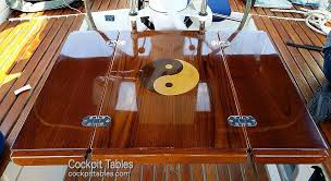 boat tables for cockpit cruising concepts custom teak doors ladders tables and other