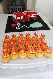 firetruck cakes truck cake cupcakes drive