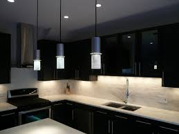 plain white wall painting blended with brown modern kitchen for