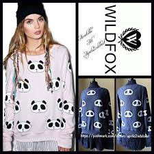 1 hour sale wildfox sweatshirt panda bear boutique baggy