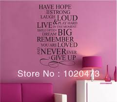 Wall Quotes For Bedroom by Aliexpress Com Buy Free Shipping Have Hope Be Strong Wall Quotes