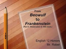 raber pattern works from beowulf to frankenstein part ii restoration 18th cent
