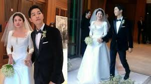 wedding dress song christian shares the of song hye kyo s couture wedding