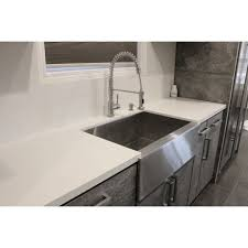 40 Inch Kitchen Sink 33 Inch Stainless Steel Smooth Flat Front Farmhouse Apron Kitchen