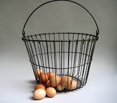 egg baskets vintage wire baskets