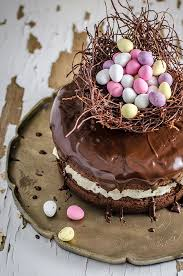 chocolate easter egg nest cake recipe easter lunch egg nest