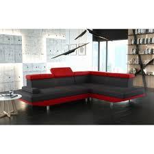 couleur canapé canapé d angle 4 places stario bi couleur en tissu et simili cuir