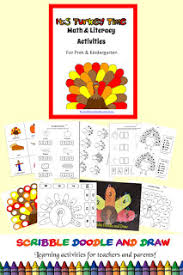 thanksgiving literacy and math activities for learners