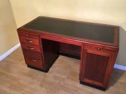 art deco style writing desk mid century art deco style mahogany writing desk with built in