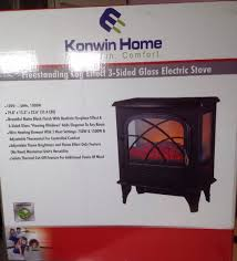 electric fireplace tv stand 47 50in variable heat setting side