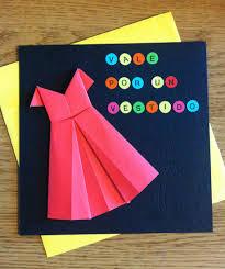 origami dress birthday gift card bubanana